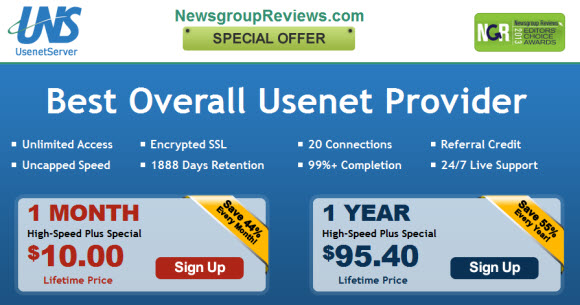 UsenetServer is Awarded a Best Usenet Provider